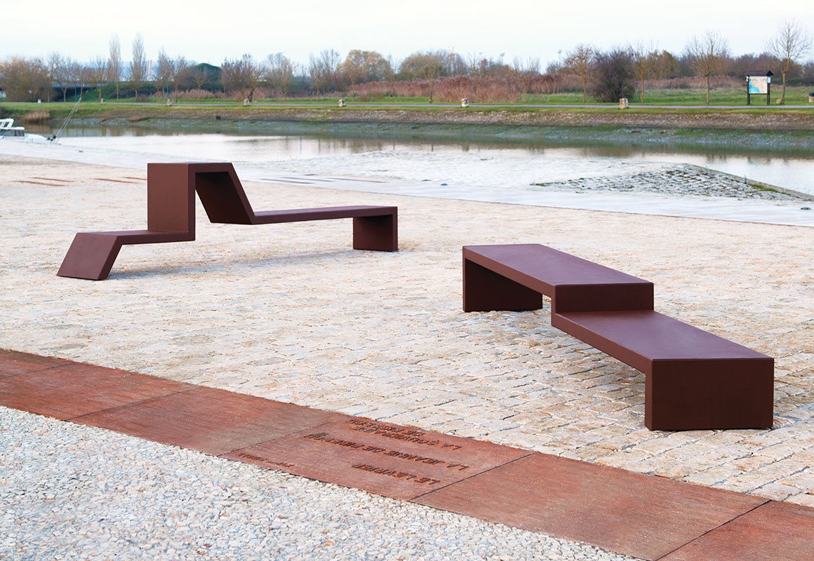 Banc mobilier urbain revia multiservices - Banc contemporain ...