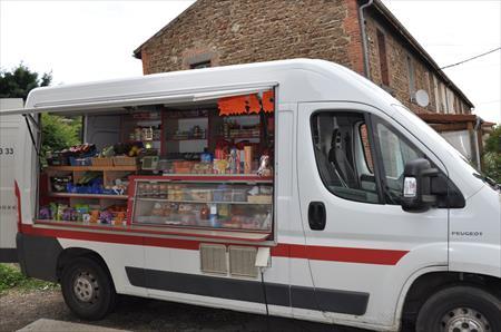 Camionnette pour marché ambulant
